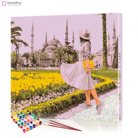 """Картина по номерам """"Девушка в белом"""" PBN0050, размер 40х40 см"""