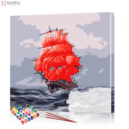 "Картина по номерам ""Алые паруса"" PBN0054, размер 40х40 см"