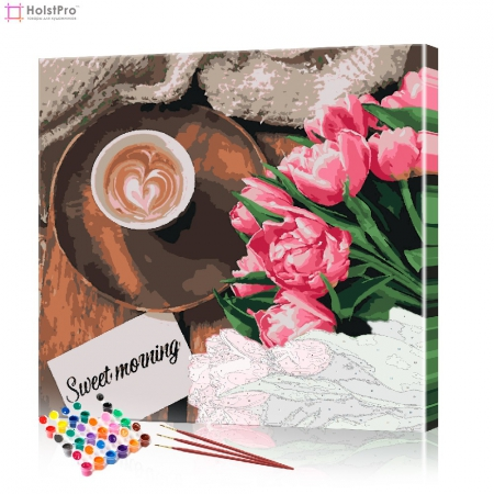 """Картина по номерам """"Кофейный натюрморт"""" PBN0058, размер 40х40 см"""
