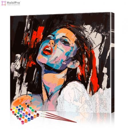 "Картина по номерам ""Девушка Поп-Арт"" PBN0078, размер 40х40 см"