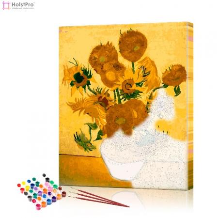 "Картина по номерам ""Подсолнухи Ван Гог"" PBN0094, размер 40х50 см"