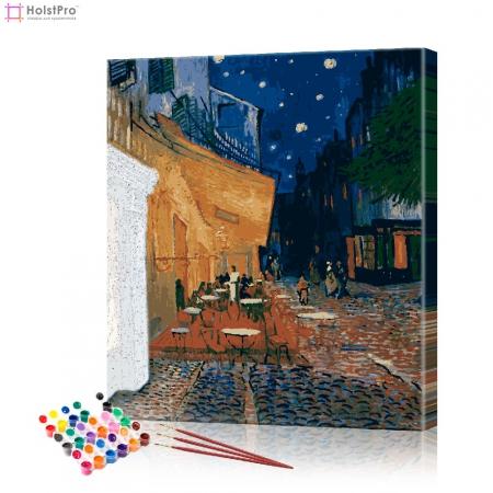 """Картина по номерам """"Кафе Ван Гог"""" PBN0098, размер 40х50 см"""