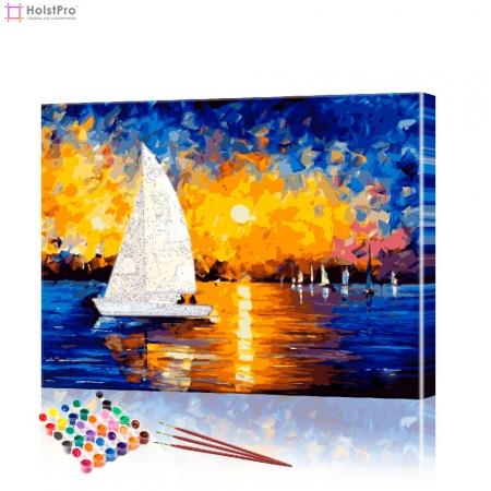 "Картина по номерам ""Яхта"" PBN0104, размер 40х50 см"