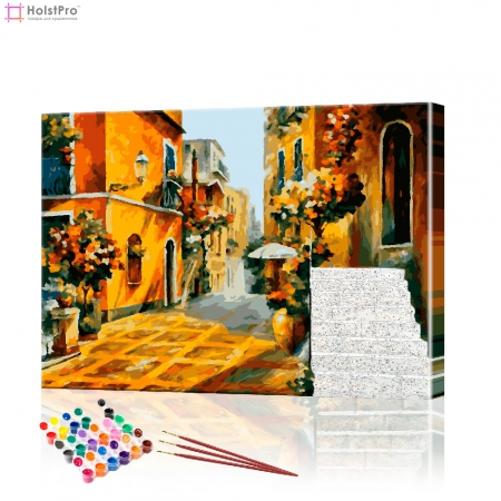 """Картина по номерам """"Греческие улочки"""" PBN0116, размер 40х50 см"""