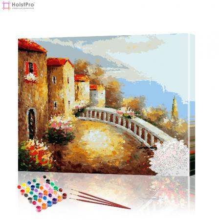 "Картина по номерам ""Греческий пейзаж"" PBN0128, размер 40х50 см"