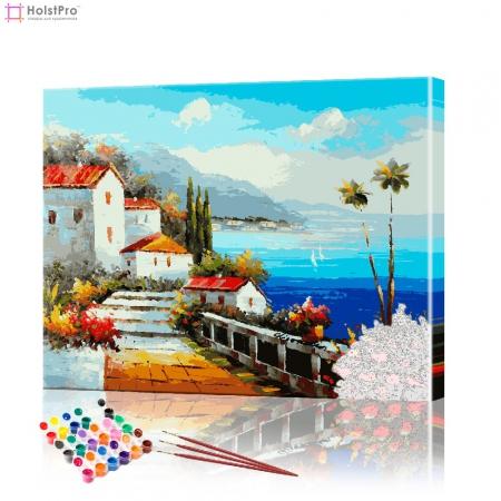 """Картина по номерам """"Итальянский пейзаж"""" PBN0136, размер 40х50 см"""