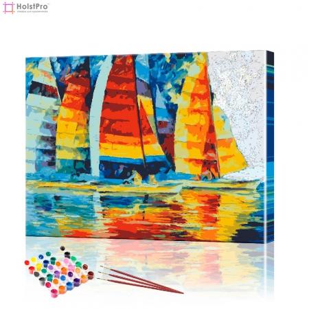 """Картина по номерам """"Морская регата"""" PBN0138, размер 40х50 см"""