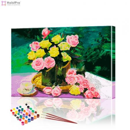 "Картина по номерам ""Букет роз"" PBN0148, размер 40х50 см"
