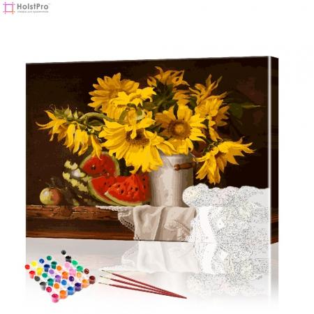 "Картина по номерам ""Букет подсолнухов"" PBN0152, размер 40х50 см"