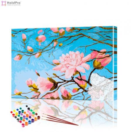 """Картина по номерам """"Ветка сакуры"""" PBN0154, размер 40х50 см"""