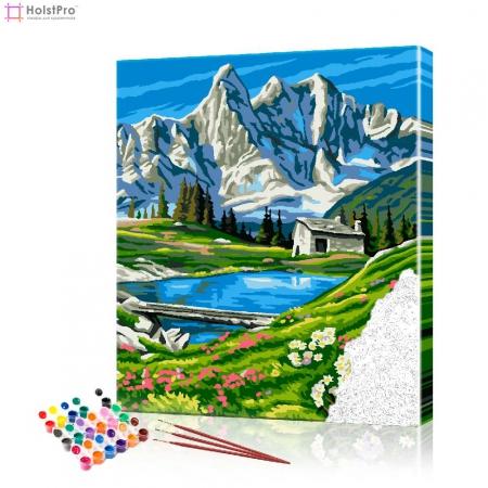 """Картина по номерам """"Горный пейзаж"""" PBN0301, размер 40х50 см"""