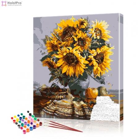 "Картина по номерам ""Букет подсолнухов"" PBN0335, размер 40х50 см"