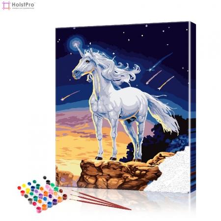 "Картина по номерам ""Белый единорог"" PBN0505, размер 40х50 см"