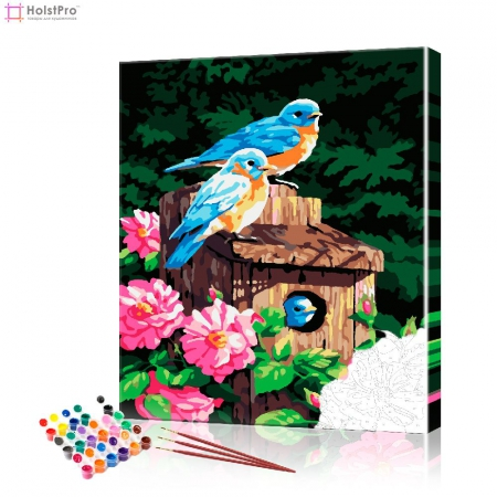 "Картина по номерам ""Голубые птички"" PBN0617, размер 40х50 см"