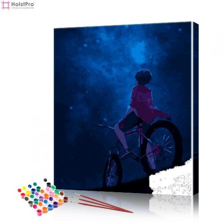 """Картина по номерам """"Аниме - взгляд на небо"""" PBN1002, размер 40х50 см"""
