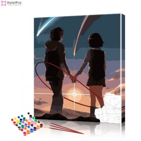 """Картина по номерам """"Аниме - пара"""" PBN1004, размер 40х50 см"""
