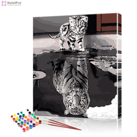 "Картина по номерам ""Котёнок с душой тигра"" PBN0563, размер 40х50 см"