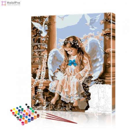 """Картина по номерам """"Ангелок"""" PBN0573, размер 40х50 см"""