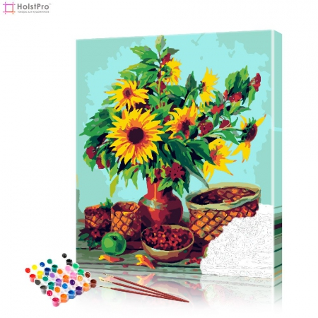 "Картина по номерам ""Букет подсолнухов"" PBN0439, размер 40х50 см"
