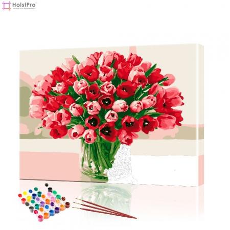 "Картина по номерам ""Букет тюльпанов"" PBN0817, размер 40х50 см"
