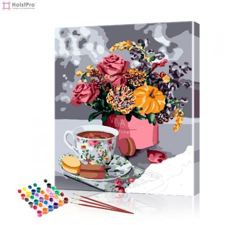 "Картина по номерам ""Букет на кофейном столике"" PBN0821, размер 40х50 см"