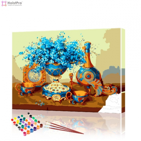 """Картина по номерам """"Натьрморт в голубых тонах"""" PBN0629, размер 40х50 см"""