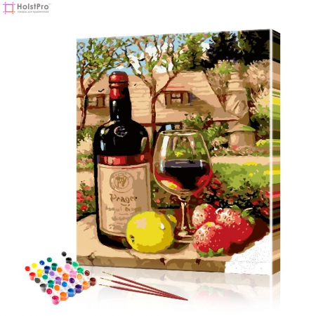 "Картина по номерам ""Вино с фруктами"" PBN0983, размер 40х50 см"