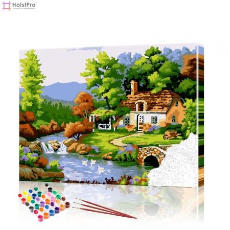 """Картина по номерам """"Деревня"""" PBN0451, размер 40х50 см"""
