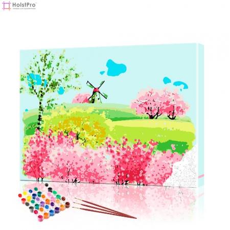 "Картина по номерам ""Мельница на холме"" PBN0457, размер 40х50 см"
