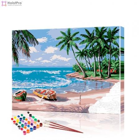 """Картина по номерам """"Островной пляж"""" PBN0519, размер 40х50 см"""