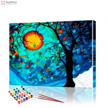 "Картина по номерам ""Луна и дерево"" PBN0569, размер 40х50 см"