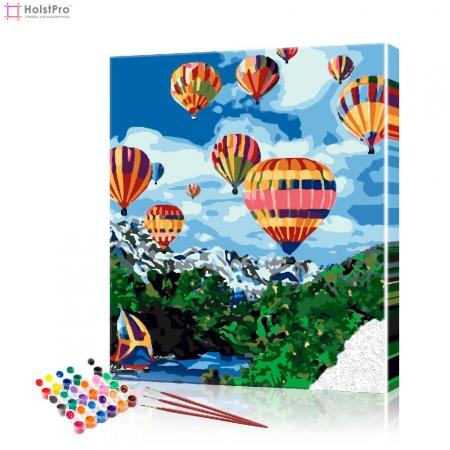 """Картина по номерам """"Воздушные шары над рекой"""" PBN0877, размер 40х50 см"""