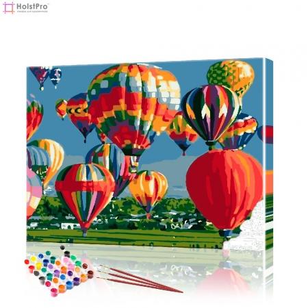 """Картина по номерам """"Воздушные шары над полем"""" PBN0965, размер 40х50 см"""