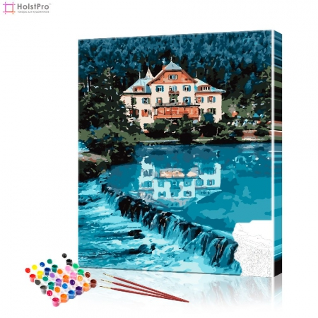 "Картина по номерам ""Дворец на берегу"" PBN0967, размер 40х50 см"