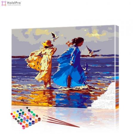 """Картина по номерам """"Босиком по пляжу"""" PBN0533, размер 40х50 см"""