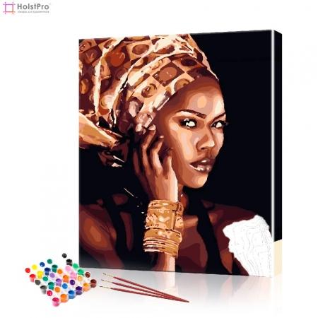 """Картина по номерам """"Африканка"""" PBN0955, размер 40х50 см"""