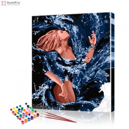 "Картина по номерам ""Девушка в волнах"" PBN0957, размер 40х50 см"