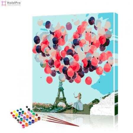 """Картина по номерам """"Мечты в Париже"""" PBN0997, размер 40х50 см"""