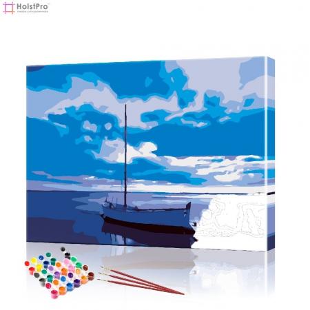 "Картина по номерам ""Одинокая яхта"" PBN0613, размер 40х50 см"
