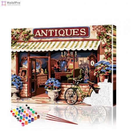 """Картина по номерам """"Антикварный магазинчик"""" PBN0709, размер 40х50 см"""