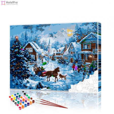"Картина по номерам ""Перед Рождеством"" PBN0539, размер 40х50 см"