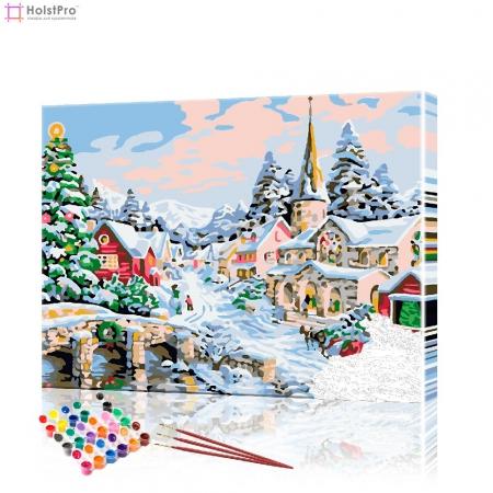 """Картина по номерам """"Рождественский пейзаж"""" PBN1019, размер 40х50 см"""