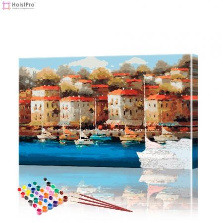 """Картина по номерам """"Набережная в Италии"""" PBN0180, размер 40х60 см"""
