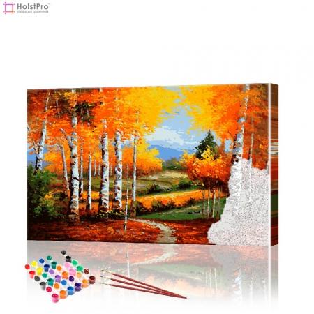 "Картина по номерам ""Березовая роща"" PBN0190, размер 40х60 см"