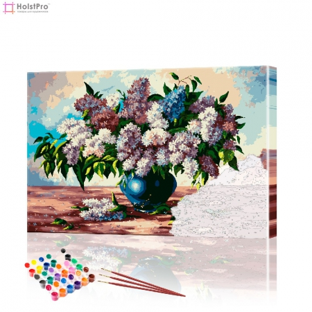 "Картина по номерам ""Сирень в вазе"" PBN0202, размер 40х60 см"