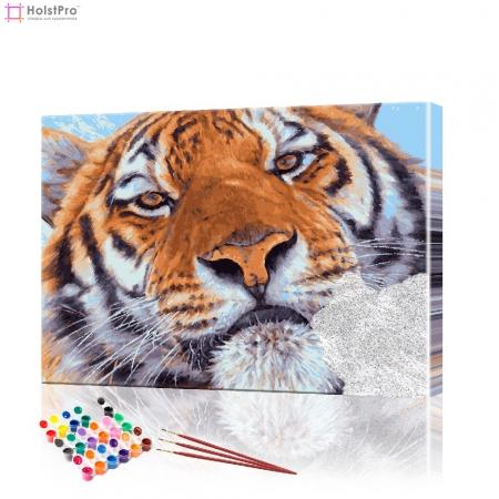 "Картина по номерам ""Взгляд тигра"" PBN0230, размер 40х60 см"
