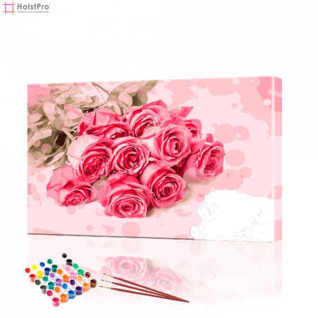 "Картина по номерам ""Букет роз"" PBN0355, размер 40х60 см"