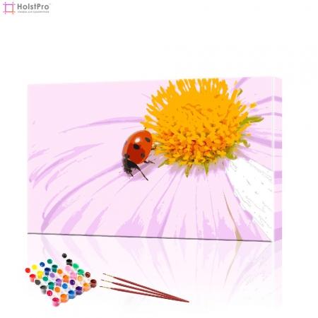 "Картина по номерам ""Божья коровка на цветке"" PBN0359, размер 40х60 см"