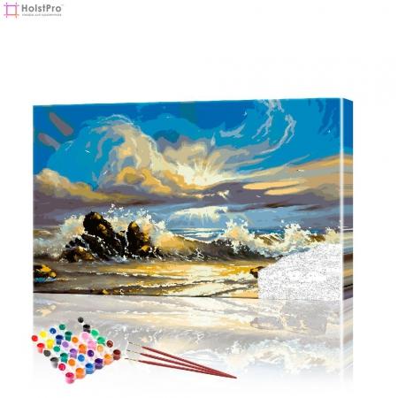 "Картина по номерам ""На берегу моря"" PBN0385, размер 40х60 см"