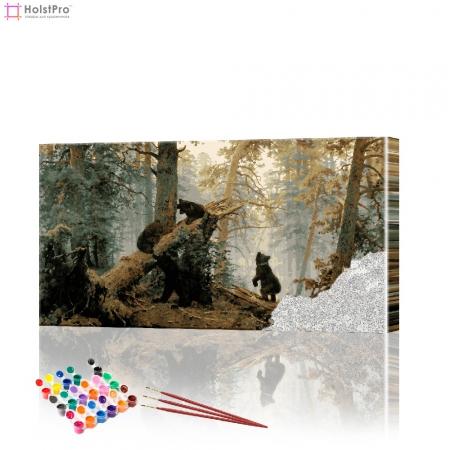 "Картина по номерам ""Утро в лесу"" PBN0243, размер 40х70 см"